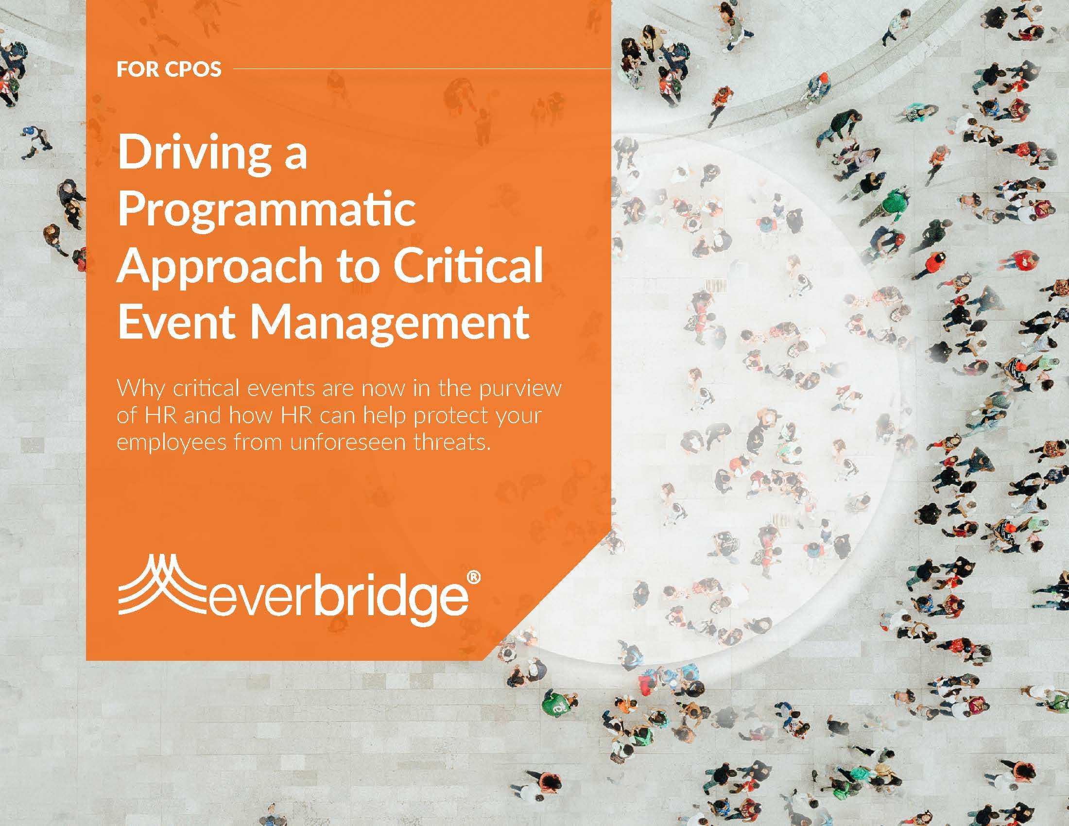 driving a programmatic approach to critical event management Chief people officer executive brief
