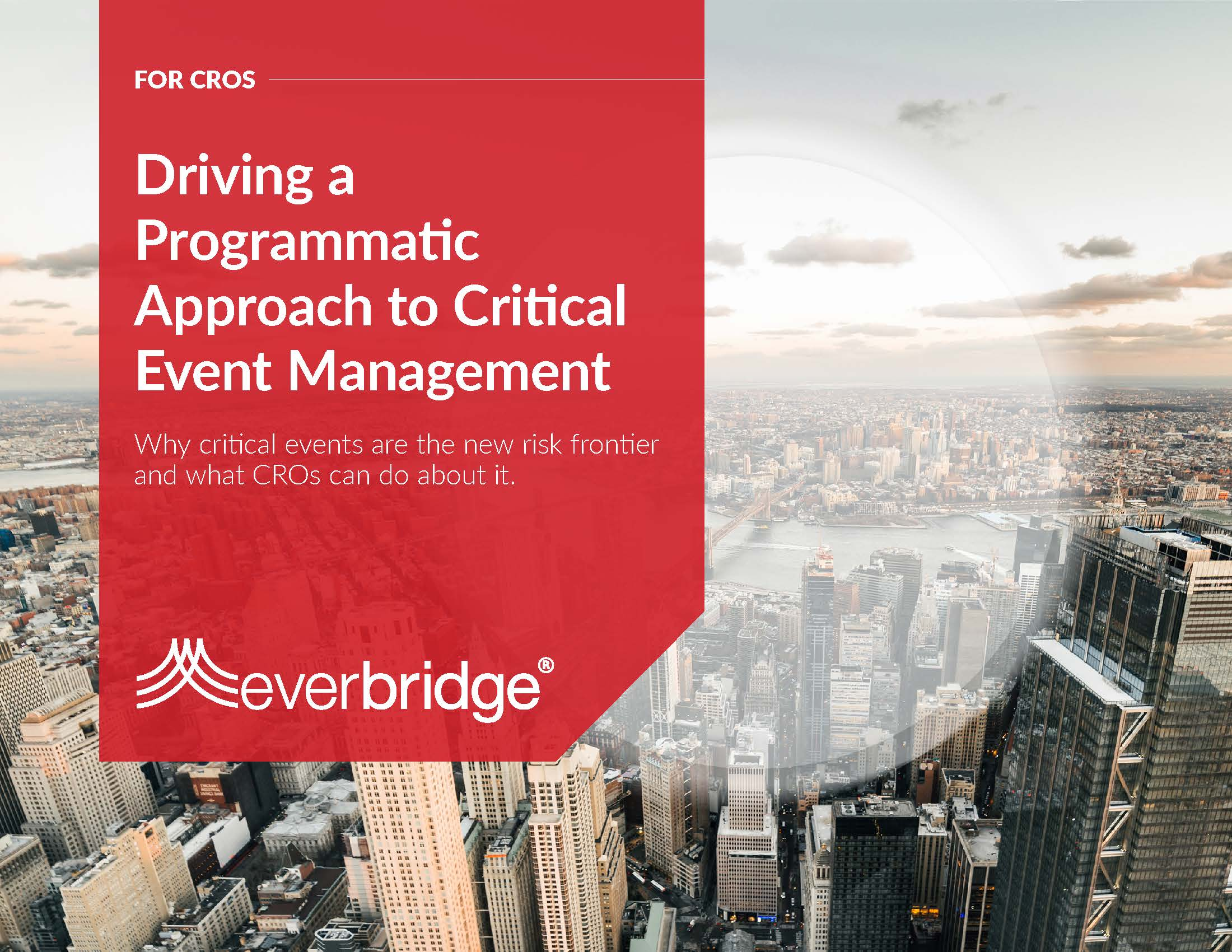 driving a programmatic approach to critical event management Chief risk officer executive brief