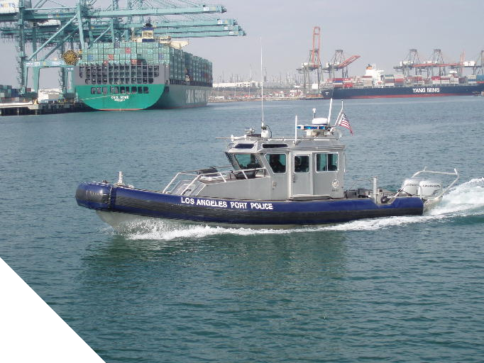 Los Angeles Port Police boat patrolling the harbor